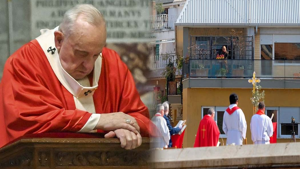 कोरोना का असर: इतिहास में पहली बार सेंट पीटर्स बेसिलिका में पोप फ्रांसिस ने अकेले मनाया होली वीक