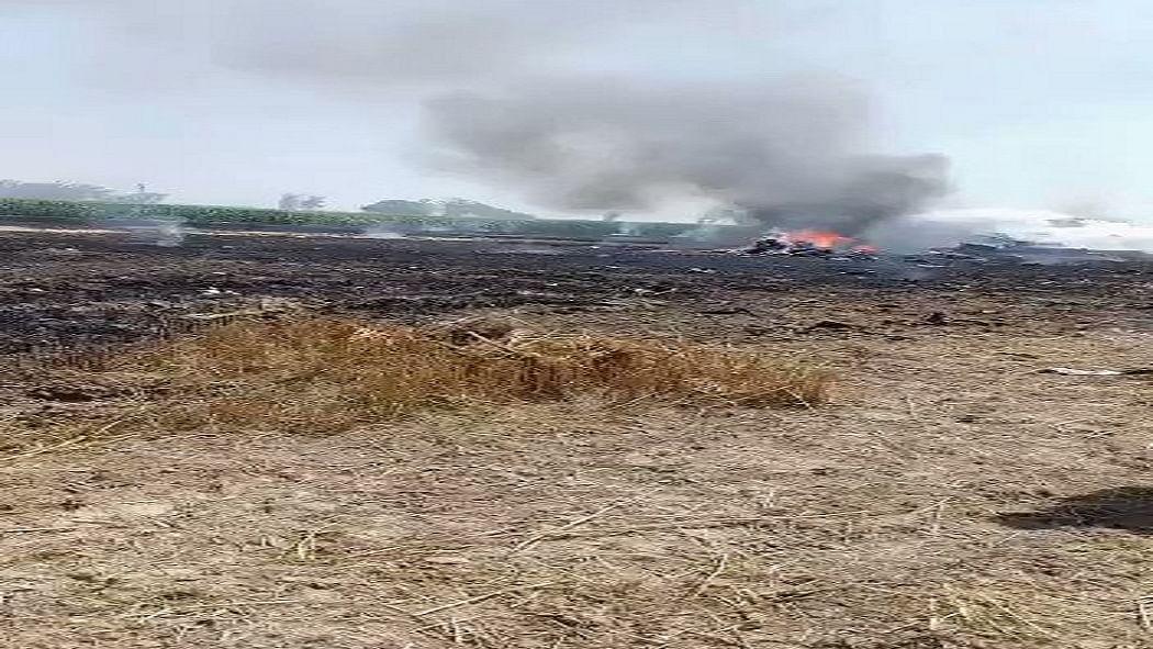 पंजाब के होशियारपुर में क्रैश हुआ वायु सेना का लड़ाकू विमान मिग-29, बाल-बाल बची पायलट की जान
