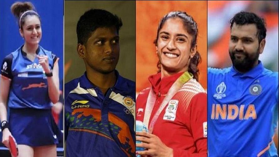 राजीव गांधी खेल रत्न के लिए रोहित शर्मा के नााम की सिफारिश, मानिका,  मरियप्पन और विनेश भी लिस्ट में शामिल