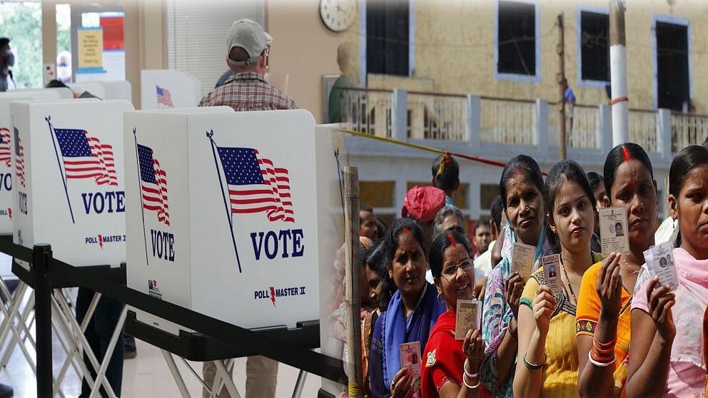 अमेरिका और भारत में मतदान की प्रक्रिया - फोटो : Getty Images