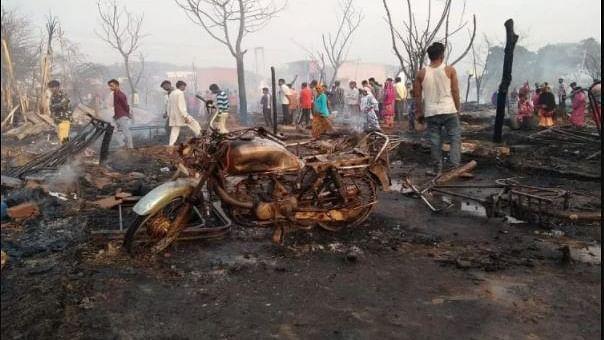 हरियाणाः पंचकूला में 200 झुग्गियां जलकर राख, दिवाली के दिन खाक हो गई सारी जमापूंजी