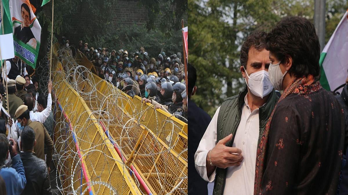 कृषि कानून: किसानों के समर्थन में सड़कों पर उतरे राहुल-प्रियंका, कहा- रद्द हो कानून, अन्नदाता के साथ खड़ी है कांग्रेस
