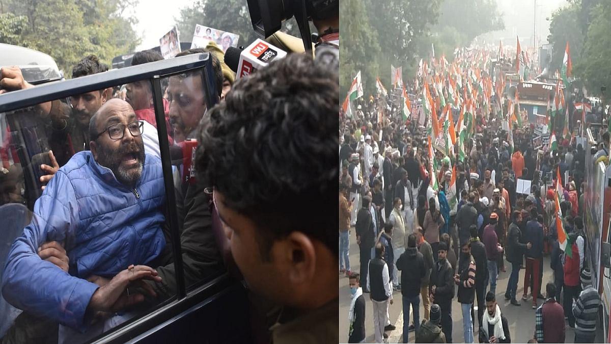कृषि कानून: देशभर में कांग्रेस की राजभवन घेराव की कोशिश, दिल्ली में LG हाउस के बाहर प्रदर्शन, UP में अजय लल्लू गिरफ्तार