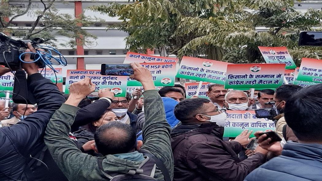 भूपेंद्र हुड्डा के नेतृत्व में हरियाणा कांग्रेस का राजभवन तक विरोध मार्च! किसान आंदोलन को लेकर खट्टर सरकार को घेरा