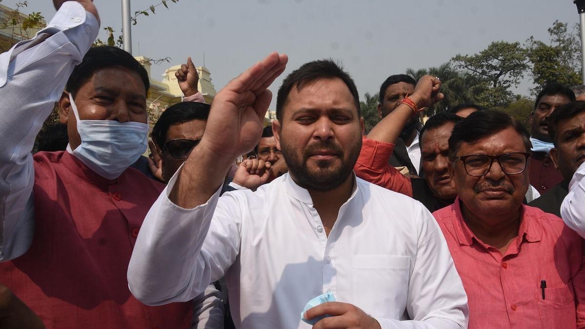 बिहार विधानसभा में तेजस्वी ने अपराध पर नीतीश को घेरा, आंकड़ों के साथ बताया 'जंगलराज' का सच