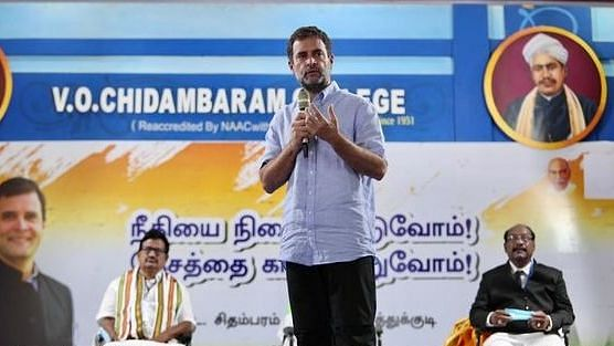 आरएसएस ने देश के प्रमुख संस्थानों और स्वतंत्र प्रेस को नष्ट किया, राहुल गांधी ने तमिलनाडु में बोला हमला