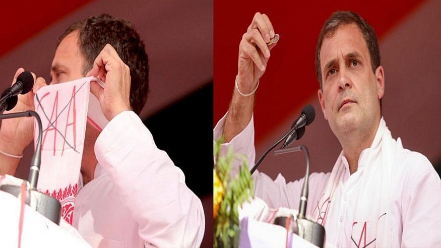वीडियो: असम की एक जनसभा में राहुल गांधी ने अपने गमछे पर लिखे CAA का समझाया मतलब, भीड़ ने दी ये प्रतिक्रिया, देखिए