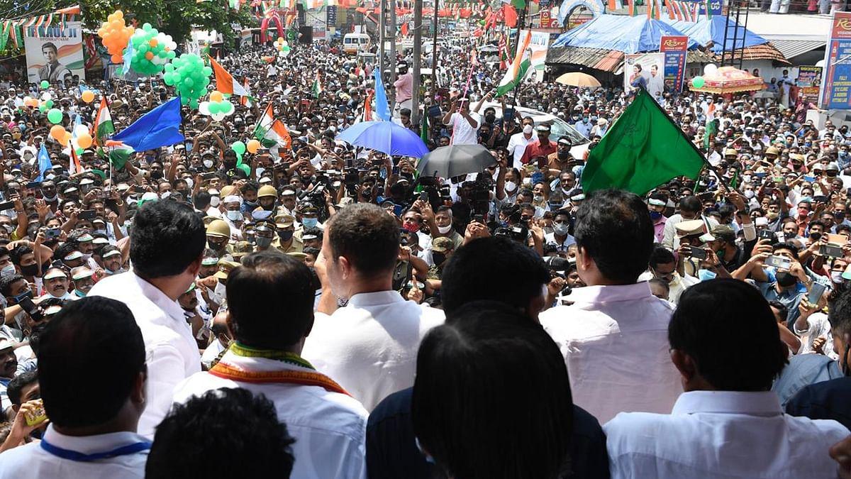 राहुल गांधी की केरल में हुंकार, बोले- प्रदेश बदलाव के लिए है तैयार, सभा में उमड़ा जनसैलाब, देखें तस्वीरें