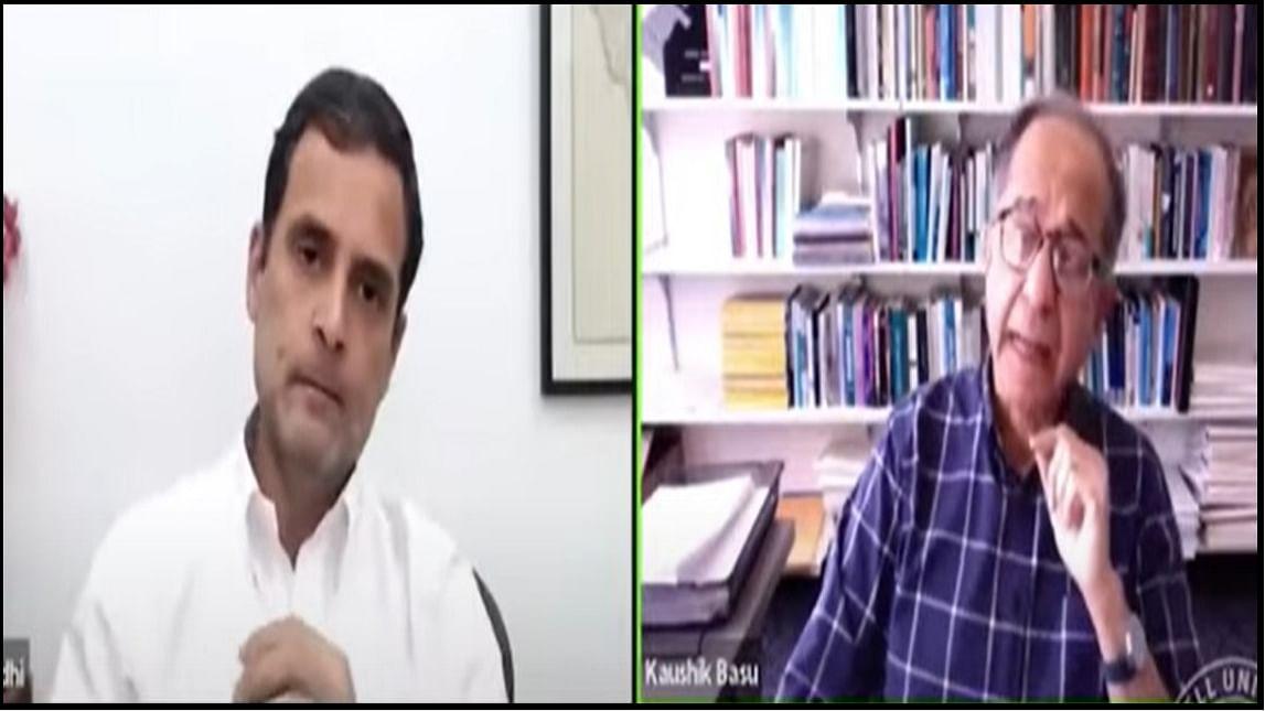 देश की लोकतांत्रिक अवधारणा पर सोचा समझा हमला किया जा रहा है: प्रोफेसर कौशिक बसु के साथ संवाद में राहुल गांधी