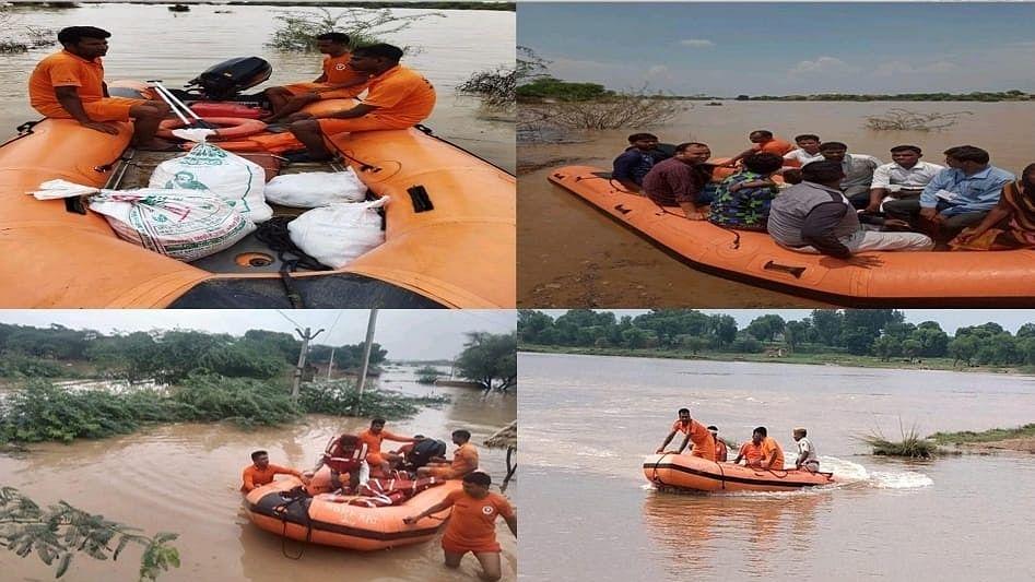 राजस्थान: बाढ़ में फंसे लोगों के बीच देवदूत बनकर आए SDRF के जवान, अबतक 161 लोगों की बचाई जान