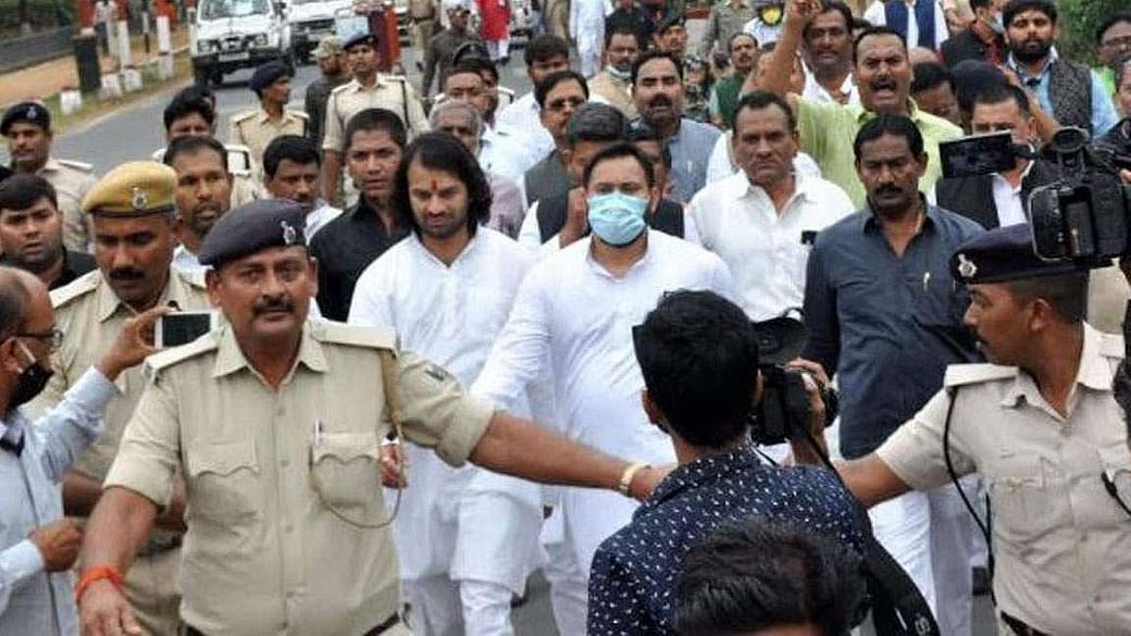 बिहार: जातीय जनगणना कराने की मांग को लेकर RJD का प्रदर्शन, सड़क पर उतरे पार्टी नेता और कार्यकर्ता