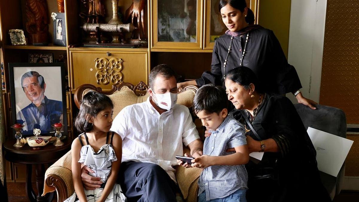 राहुल गांधी ने दिग्गज नेता ऑस्कर फर्नांडिस के परिवार से की मुलाकात, कहा- कांग्रेस के थे सच्चे सिपाही