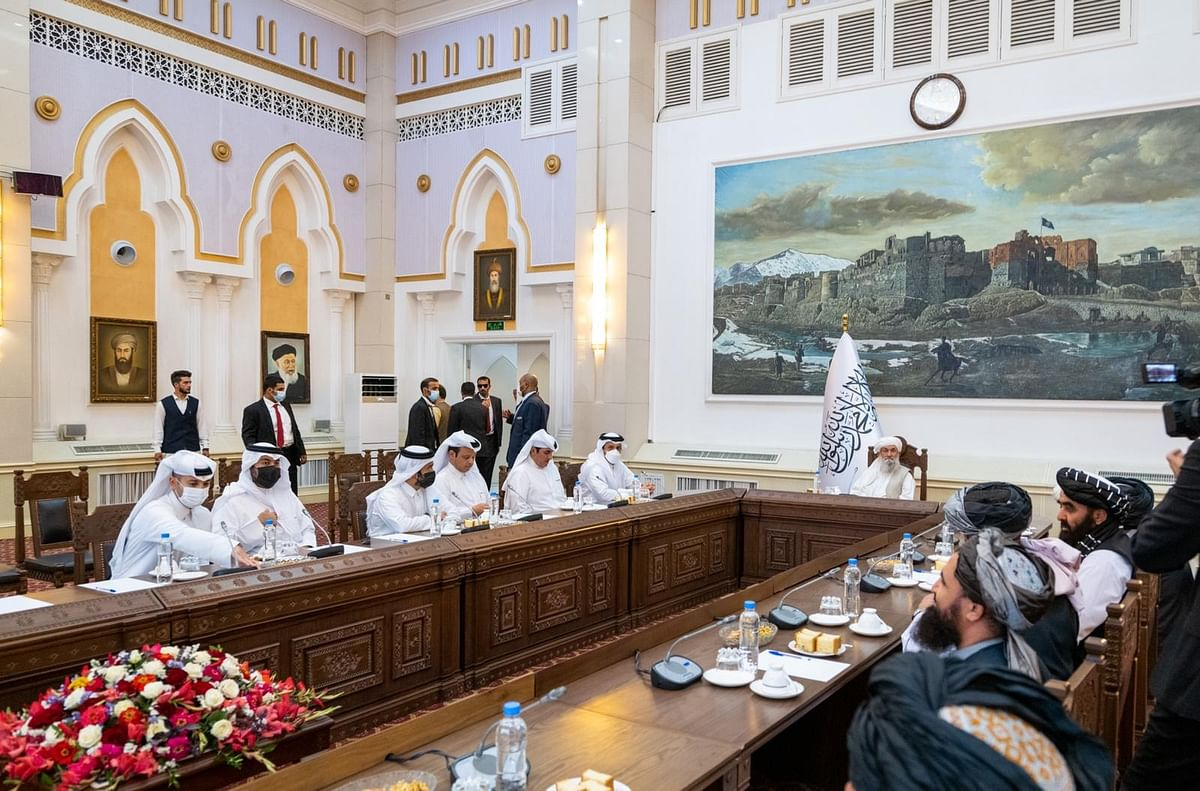 Qatar's Foreign Minister reaches Kabul, meets Taliban leadership, talks on many issues including humanitarian aid