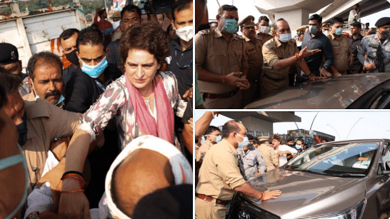हिरासत में प्रियंका गांधी बोलीं- किस बात का इतना डर? कस्टडी में मरने वाले सफाई कर्मी के परिजनों से जा रही थीं मिलने