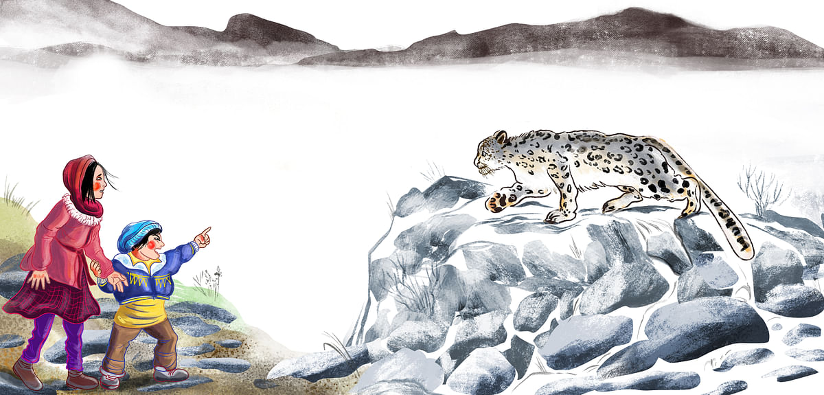Our Encounter with a Snow Leopard