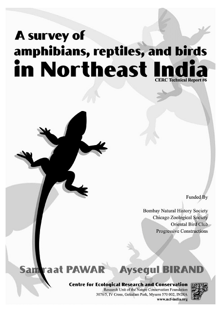 A survey of amphibians, reptiles, and birds in Northeast India