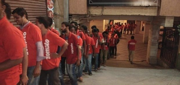 Zomato delivery executives
