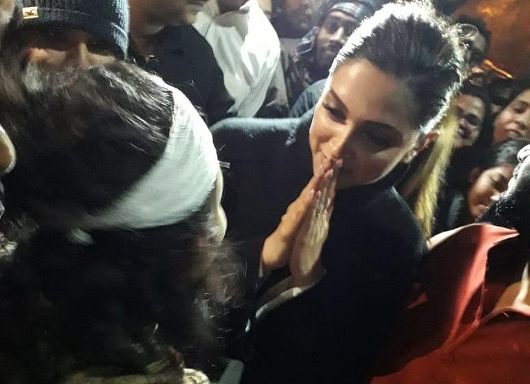 Deepika Padukone at JNU in solidarity with students