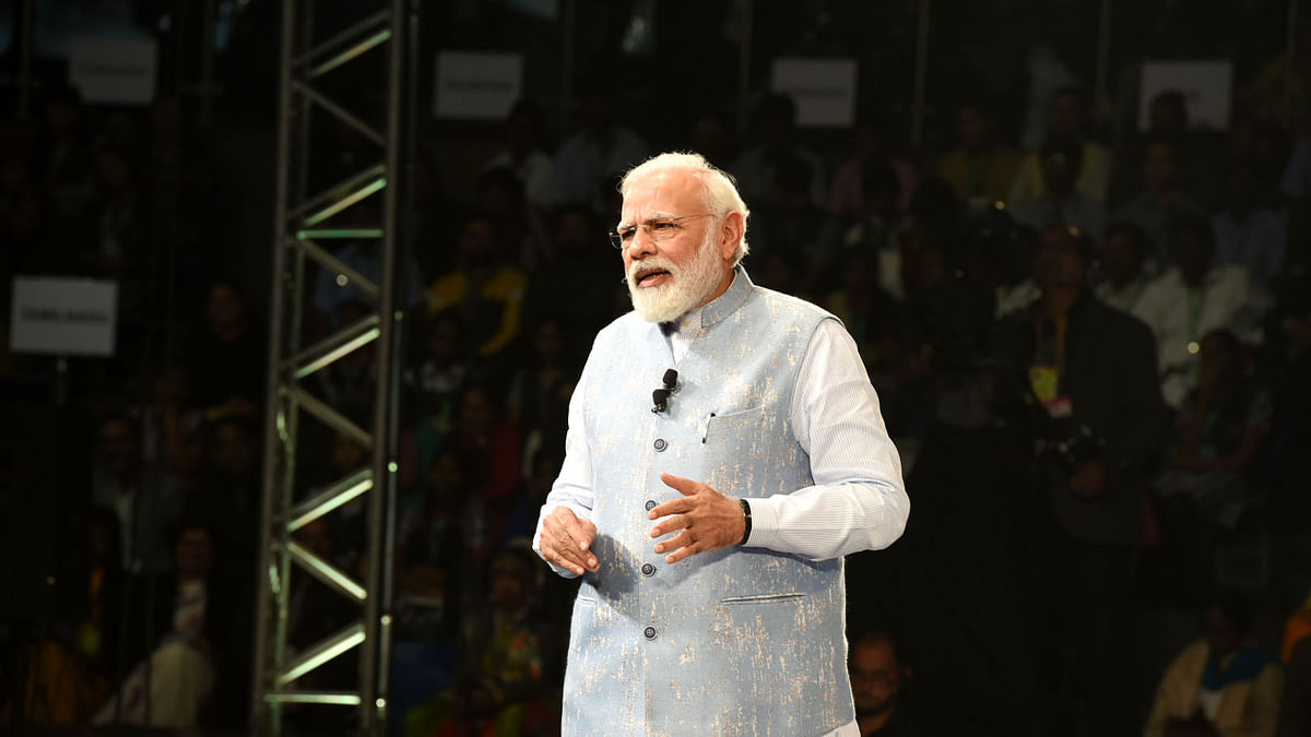 Prime Minister Narendra Modi interacting with students, teachers and parents during 'Pariksha Pe Charcha 2020', in New Delhi on January 20, 2020.