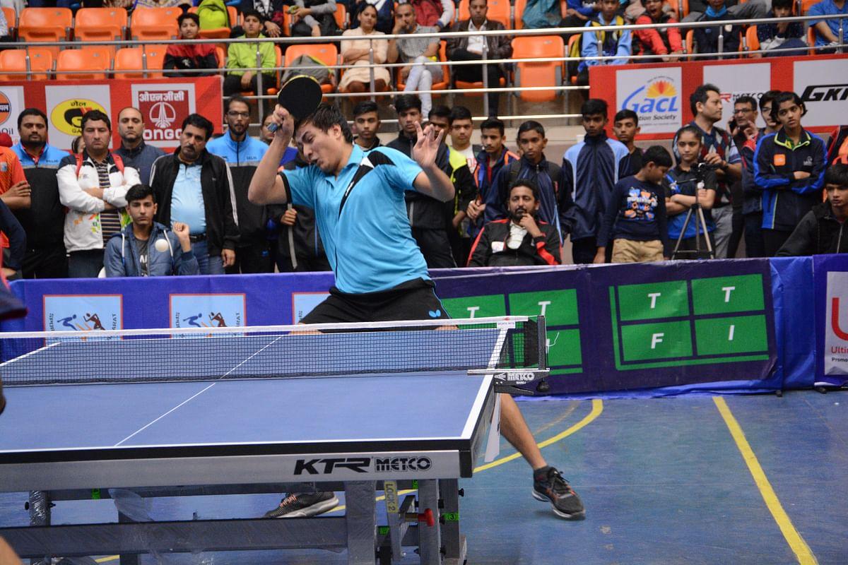 Nandish upsets national champion Adarsh at  National School Games TT Championships