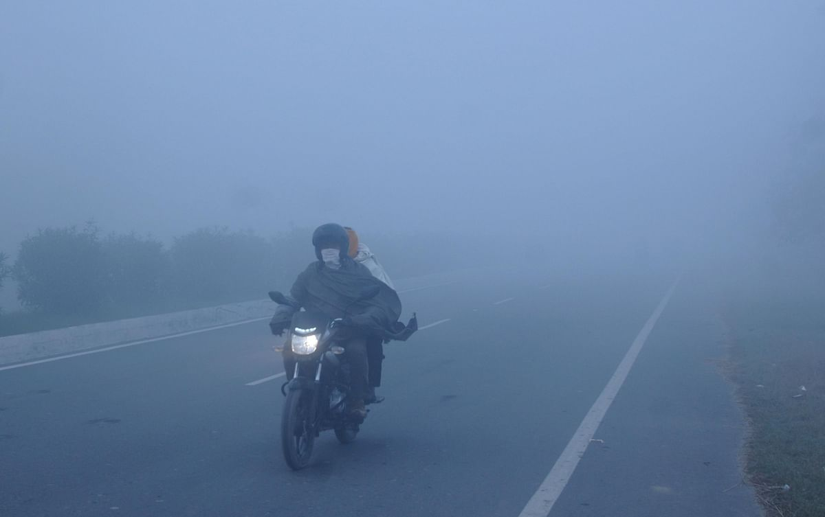 File photo of a blanket of fog engulfing Amritsar in Punjab on a chilly winter evening, on December 11, 2019.