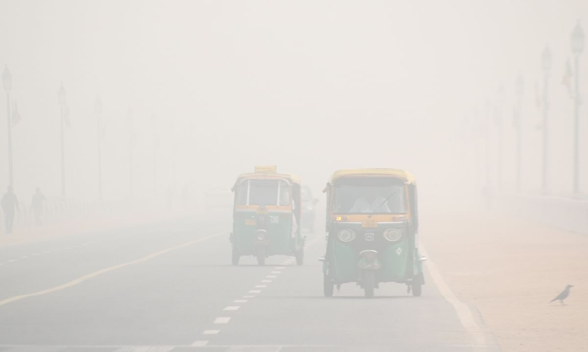 File photo of a foggy day in Delhi