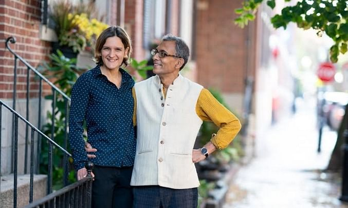 Economists Abhijit Banerjee and Esther Duflo