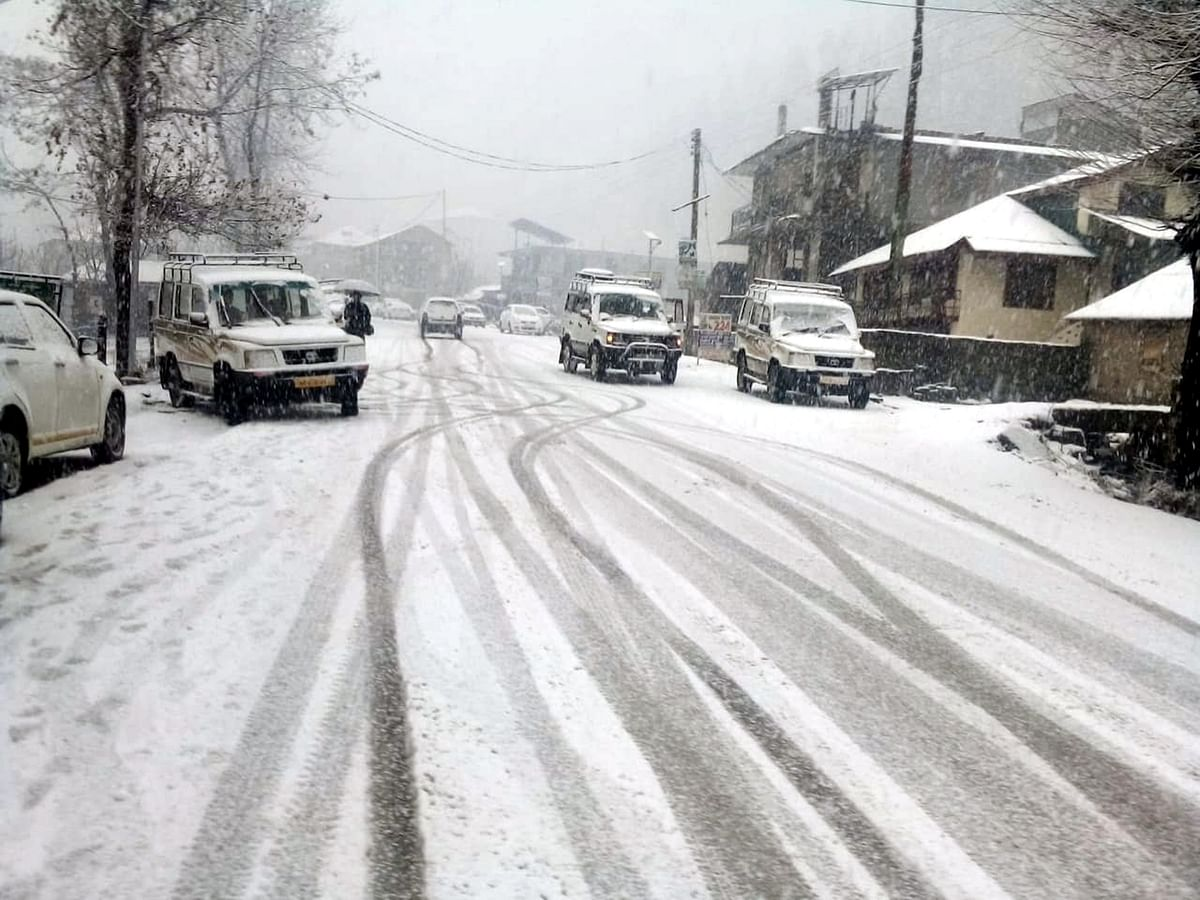 File photo of Manali after snowfall