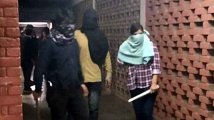 Delhi Police file FIR on JNU violence against unknown persons
