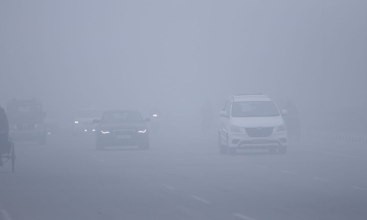 File photo of dense fog in Chandigarh