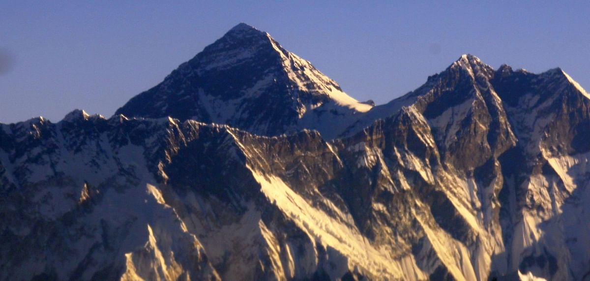 File photo of an early morning view of the Himalayas as seen from a plane during a mountain flight, in Nepal.