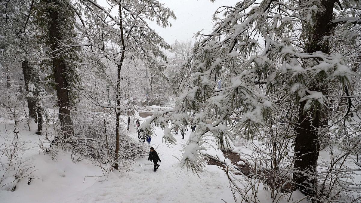 File photo of snow in Murree, near Islamabad, in Pakistan.