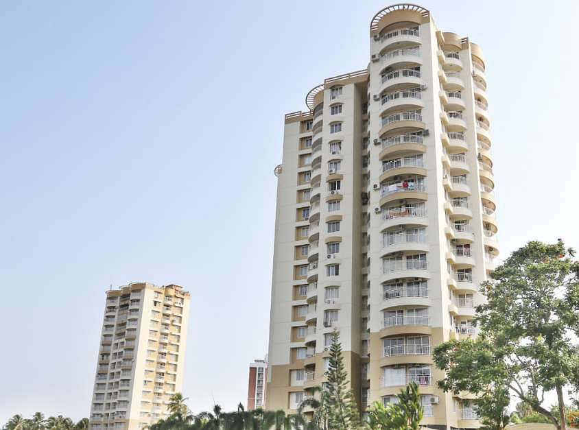 A view of the apartment complexes at Maradu which were ordered to be demolished by the Supreme Court for violation of CRZ norms.
