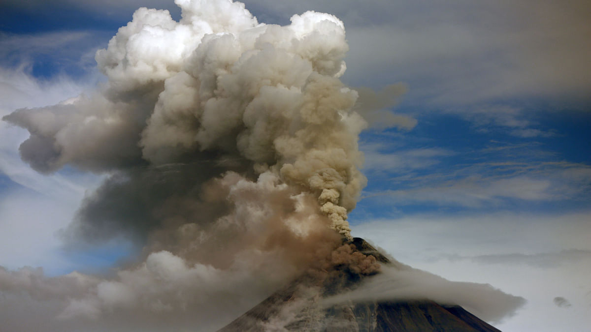 File photo of a volcano in the Philippines.