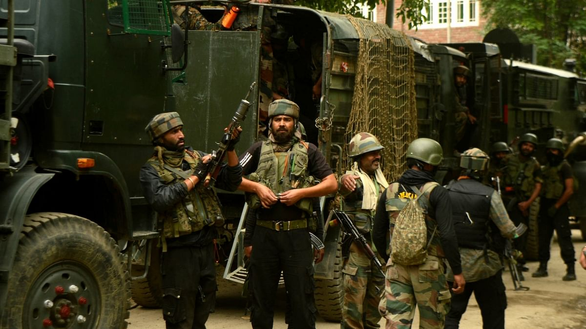 File photo of Indian security forces in Jammu and Kashmir