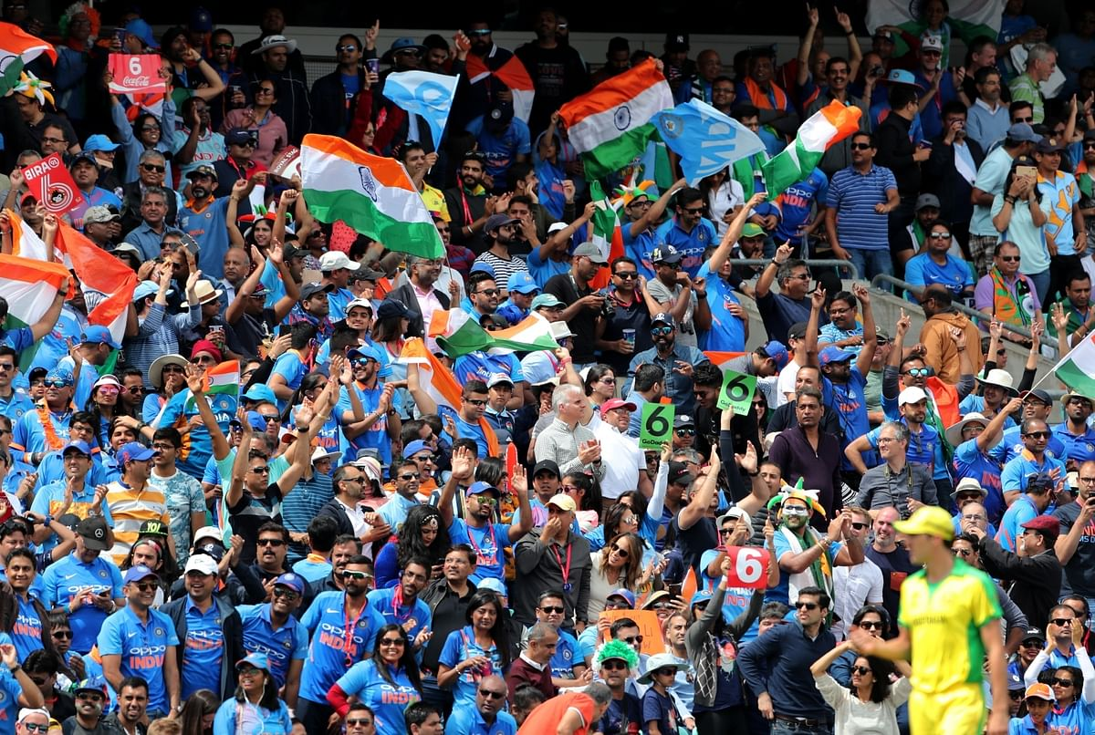 File photo of fans during the 14th match of the 2019 World Cup between India and Australia at Kennington Oval in London on June 9, 2019.