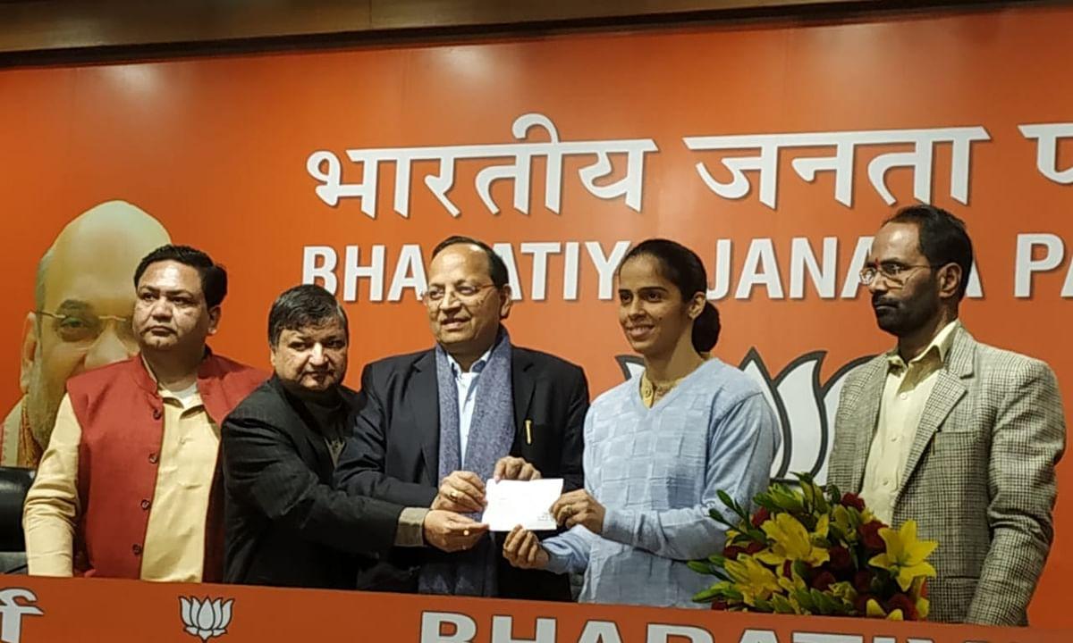 Badminton star Saina Nehwal joins BJP