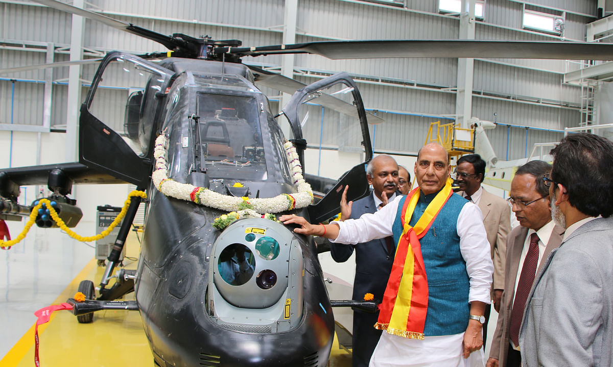 Rajnath inaugurates new LCH Production Hangar at HAL, Bengaluru