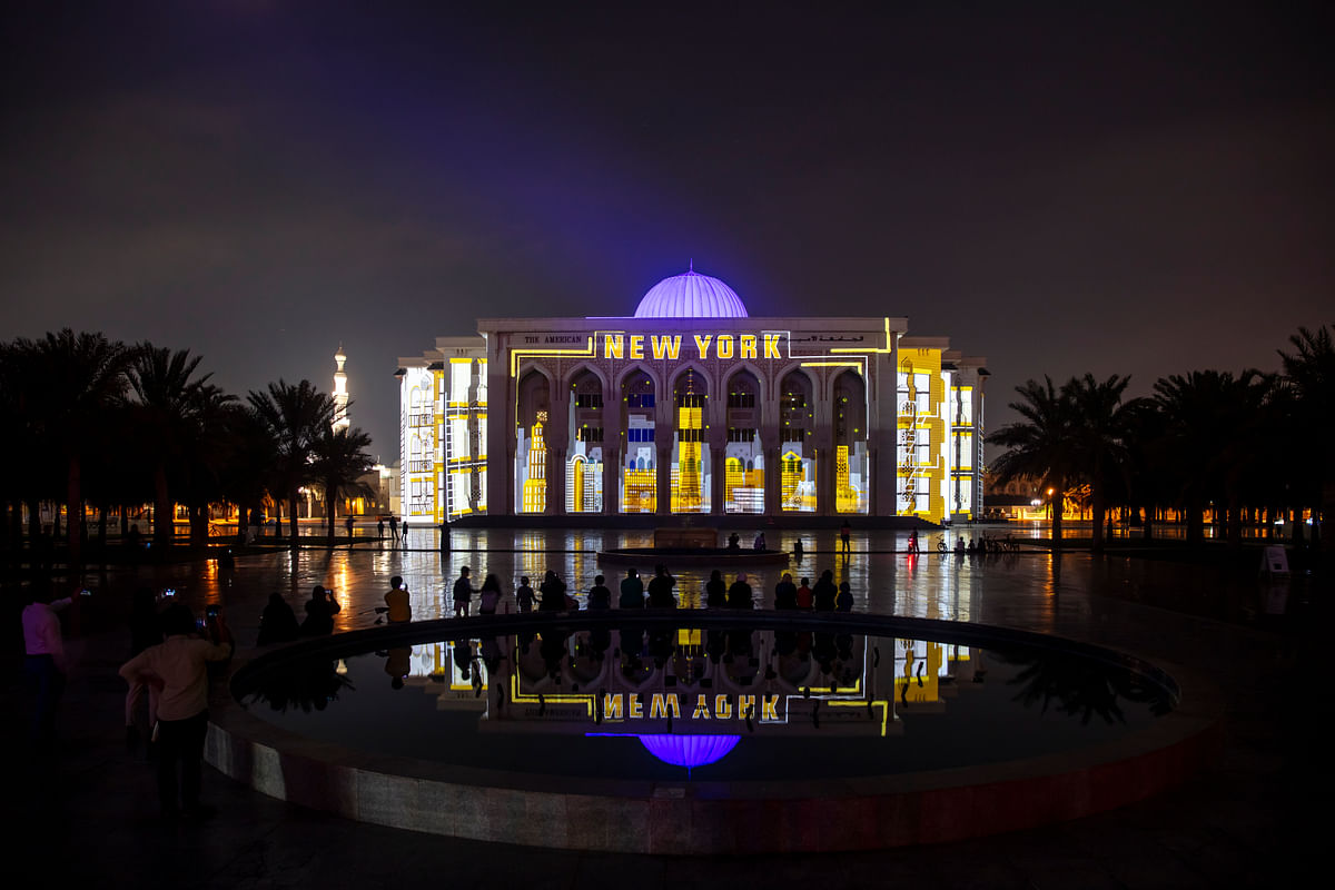 10th Sharjah Light Festival - University of Sharjah Buildings