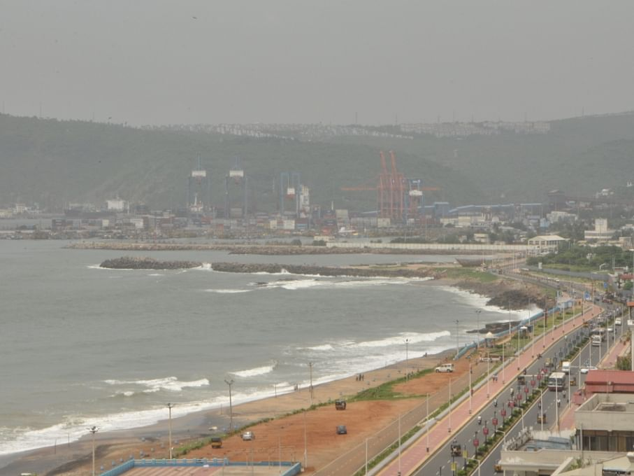 The RK Beach in Visakhapatnam
