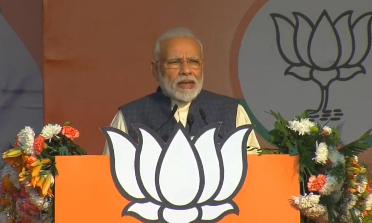 PM Modi woos Delhi traders at Karkardooma rally