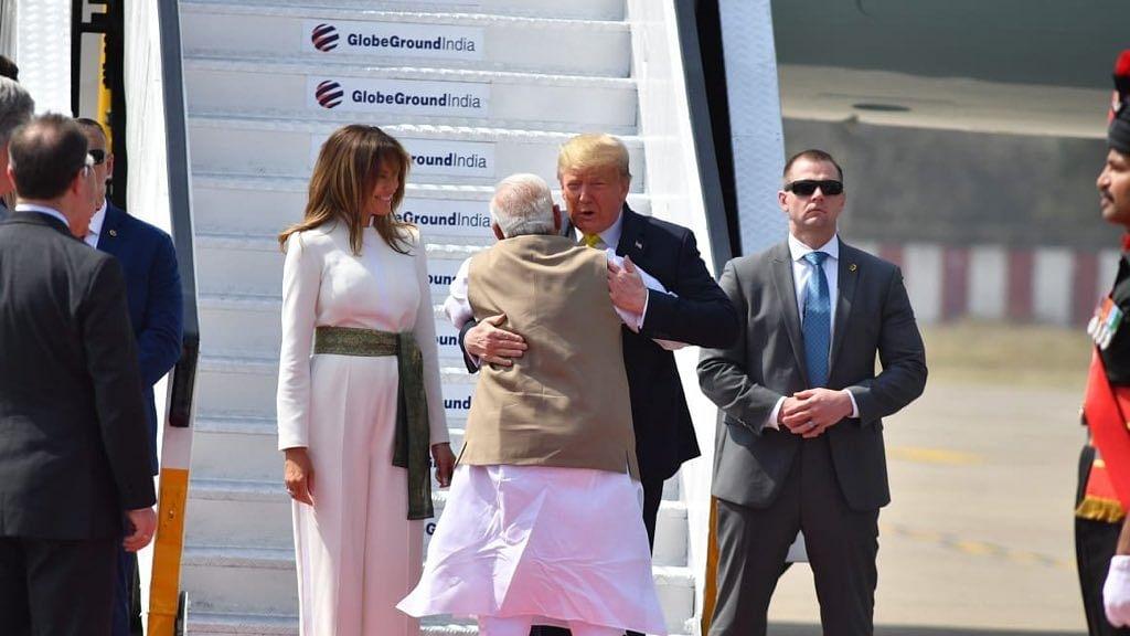 Trumps visit Sabarmati Ashram, try hands on charkha