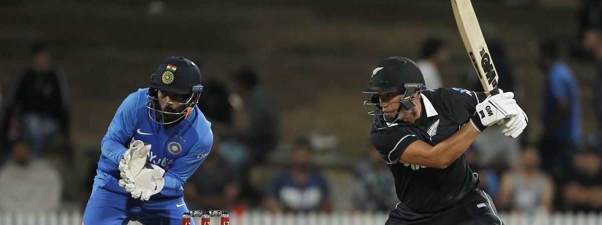 New Zealand's Ross Taylor in action during the 1st ODI of the three-match series between India and New Zealand at the Seddon Park in Hamilton, New Zealand on February 5, 2020.