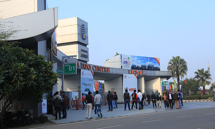 A view of the India Expo Mart, the venue of the Auto Expo 2020, in