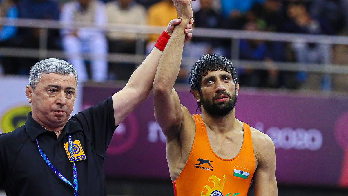 Asian Wrestling: Dahiya wins gold, Bajrang and two other Indians settle for a silver each