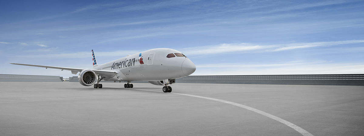 An American Airlines Boeing 787 aircraft