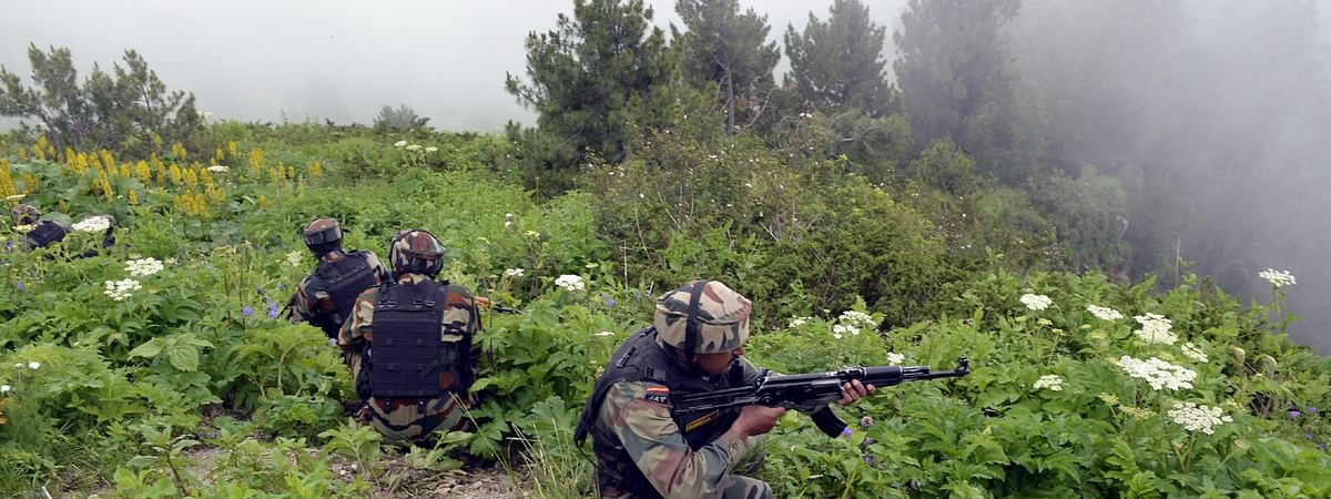 File photo of Indian soldiers retaliating as Pakistani troops breach ceasefire at the Line of Control in Kupwara,  Jammu and Kashmir.
