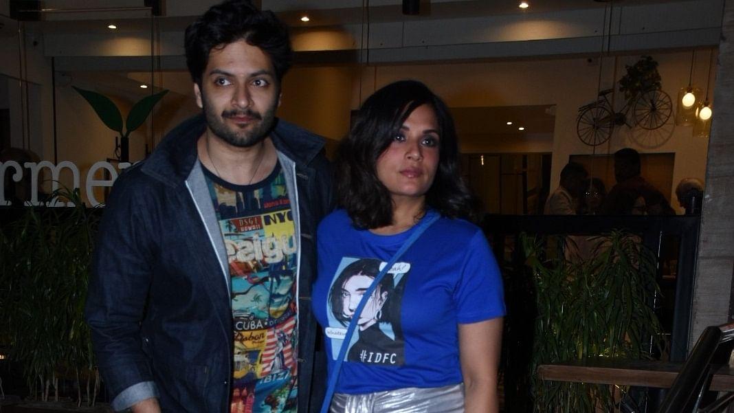 Actors Ali Fazal and Richa Chadha