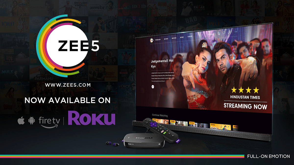 Zee5 now available on Roku devices in international markets