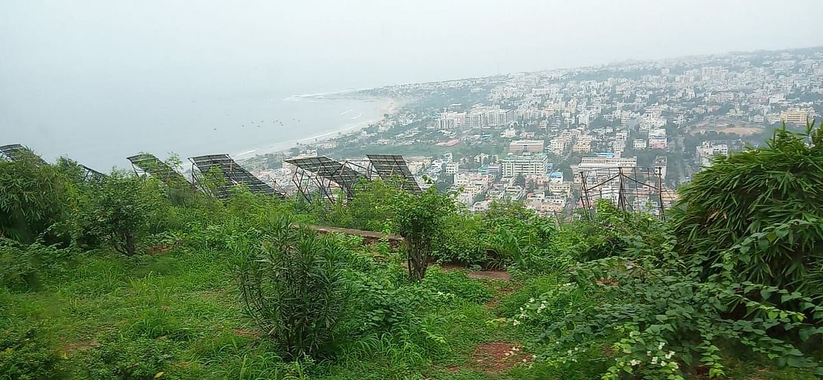 A view of Visakhapatnam and its beaches from the toy train on Kailashgiri
